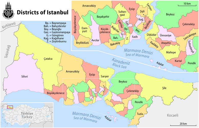 Major Districts of Istanbul